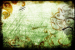 Green grunge. Background with scratches and scrolls Stock Image