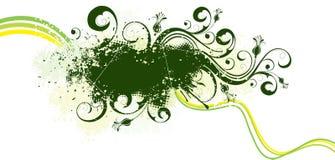 Green grunge artwork Royalty Free Stock Image