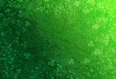 Green Grunge Background With Shamrocks Royalty Free Stock Photography