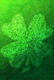 Green Grunge Background With Shamrocks Stock Images