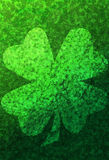 Green Grunge Background With Shamrocks Royalty Free Stock Photography