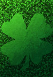 Green Grunge Background With Shamrocks Royalty Free Stock Photo