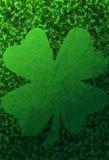 Green Grunge Background With Shamrocks Royalty Free Stock Photo