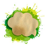 Green Grunge Blob With Speech Bubble Royalty Free Stock Images