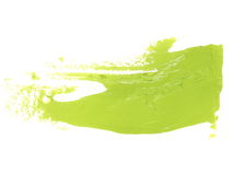 green grunge brush strokes oil paint isolated on white Royalty Free Stock Image