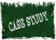 Green grunge chalkboard with CASE STUDY text. Illustration graphic Royalty Free Stock Images