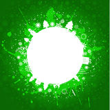 Green grunge christmas background Royalty Free Stock Photos