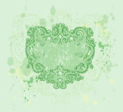 Green Grunge Crest Stock Photo