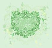 Green Grunge Crest. Illustration on textured background Stock Photo