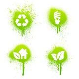 Green grunge design elements Stock Images