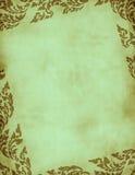 Green grunge floral frame Stock Image