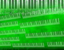 Green grunge music background Stock Image