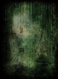 Green grunge scene Stock Images