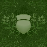 Green Grunge Shield. Grunge is on a separate layer in the .eps file for easy removal Royalty Free Stock Photos
