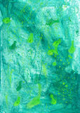 Green grunge  wash drawing watercolor   handmade background  for Royalty Free Stock Image