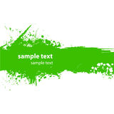 Green grungy banner Royalty Free Stock Images