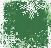 Green grungy Christmas border Royalty Free Stock Photos