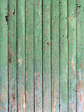 Green grungy plank Stock Photography