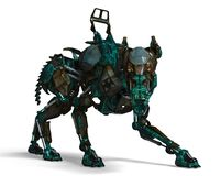 Free Green Guard Dog Robot Is A Security System Stock Image - 124804201