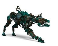 Free Green Guard Dog Robot Is A Security System Royalty Free Stock Image - 124804226