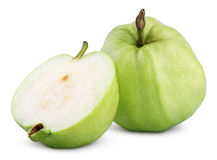 Green guavas isolated on white Royalty Free Stock Images