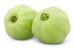 Green guavas isolated on white Stock Images