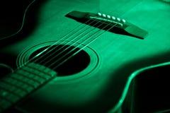 Green guitar Royalty Free Stock Photos
