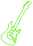 Green Guitar Royalty Free Stock Image