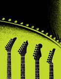 Green Guitar Background Stock Images