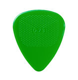 Green guitar plectrum Royalty Free Stock Photography