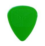 Green guitar plectrum Royalty Free Stock Photography