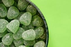 Green gumdrops Stock Photos