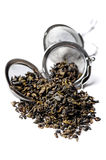 Green Gunpowder tea. Stock Images