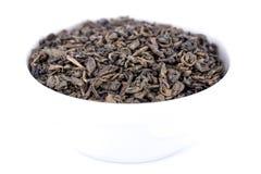 Green gunpowder tea Stock Images