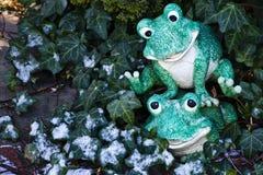 Green guys at play - life is good! Royalty Free Stock Photos