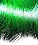 Green hair for anime shouji Royalty Free Stock Photos