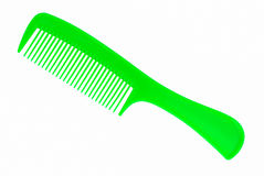 Green hair comb Royalty Free Stock Images