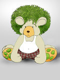Green hair Teddybear Royalty Free Stock Photos