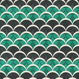 Green half circle seamless pattern Stock Images