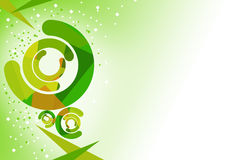Green half circles, abstrack background Stock Images