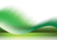 Green halftone background. Vector illustration with space for text or logo Royalty Free Stock Photos