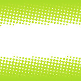Green halftone banner design Royalty Free Stock Photos