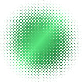 Green halftone circle blur Stock Photos