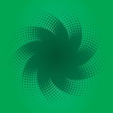 Green Halftone Design. An illustration of a green halftone star Royalty Free Stock Images
