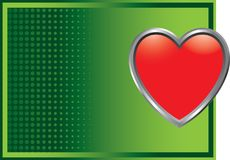 Green halftone heart icon background Stock Images