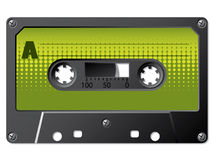 Green halftone labeled cassette Stock Photos