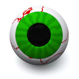 Green Halloween eyeball, 3d Royalty Free Stock Image