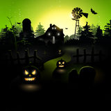 Green Halloween poster Royalty Free Stock Photo