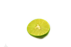 Green halved lemon Royalty Free Stock Photography