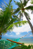 Green hammock Royalty Free Stock Image